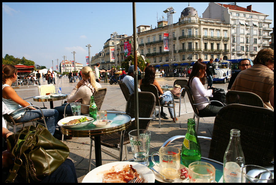 Sitting in Montpellier
