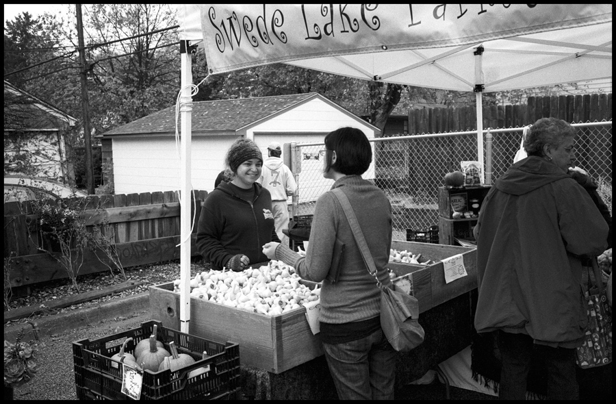 Nicole Selling Garlic