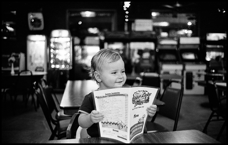 Checking out the menu